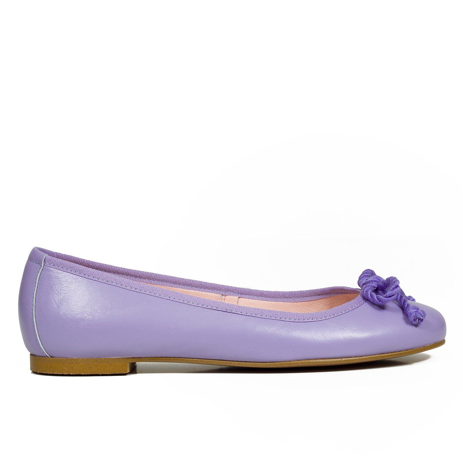 BAILARINA – Manoletina de piel LILA – Zapatos Online miMaO
