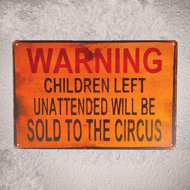Circus poster metal tin sign vintage cafe pub motorcycle retro garage kitchen