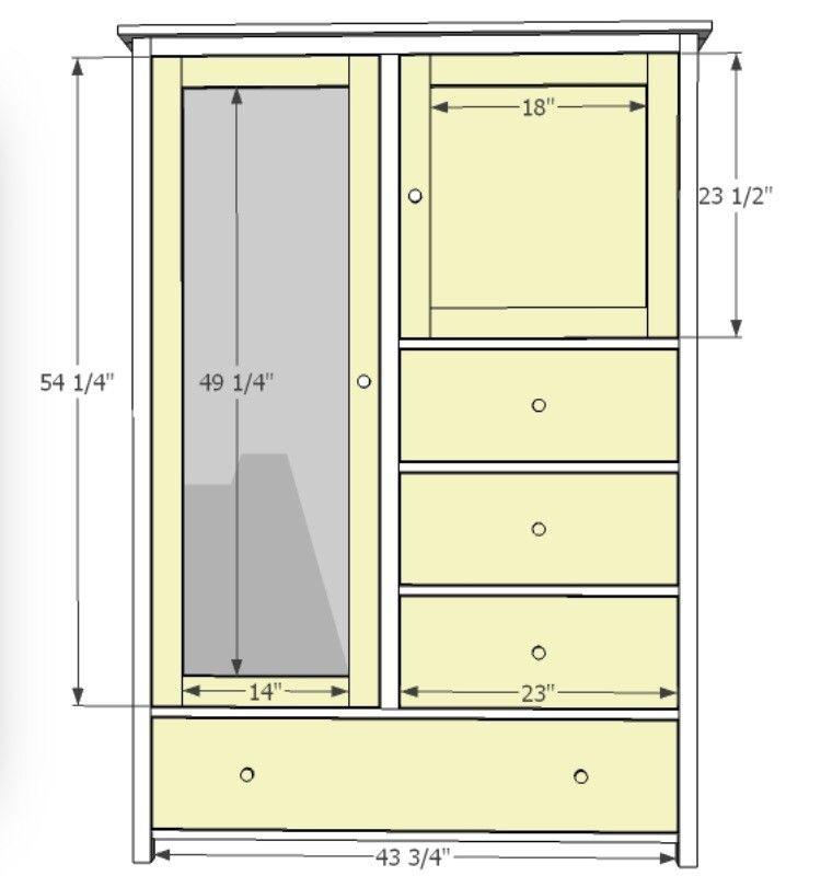 Wardrobe Plan Dresser Plans Diy Furniture Plans Diy Wardrobe