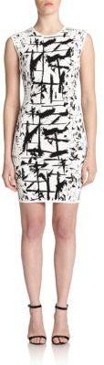 BCBGMAXAZRIA Abstract Knit Sheath Dress  $298 $119.20