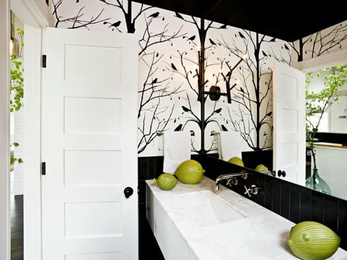 sehr originelle bad deko - schwarz und weiß im badezimmer Ideen - badezimmer ideen wei