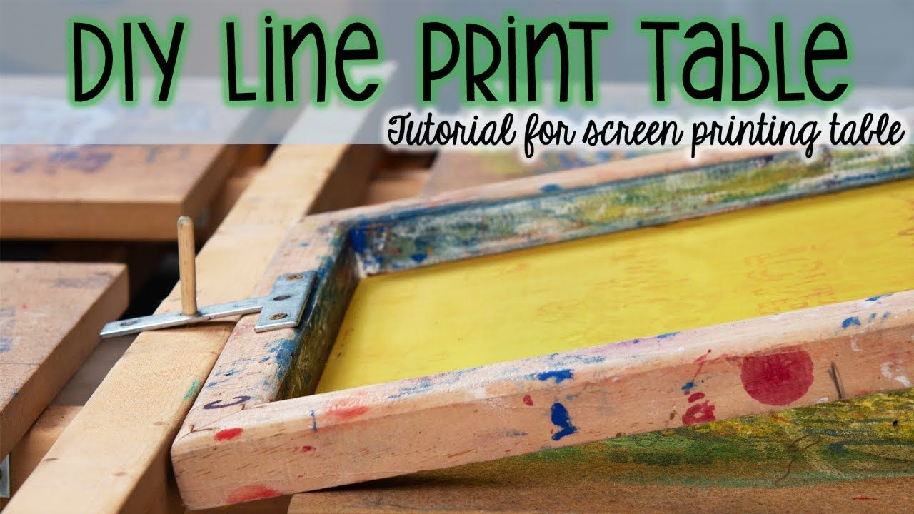 Diy Line Print Table Tutorial How To Make Your Own Screen Printing Table At Home Diy Screen Printing Screen Printing Table Screen Printing