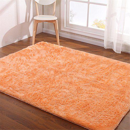 Hoomy Modern Shaggy Living Room Area Carpet Nonslip Foam Rug For Bedroom  Fluffy Light Orange Floor Mats Soild Carpet For Home 45X65 U003eu003eu003e Check Out Tu2026