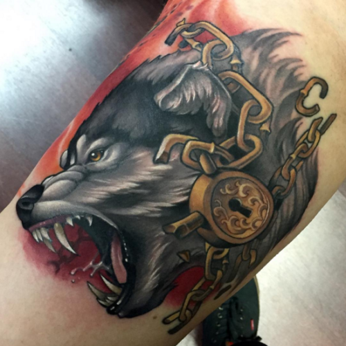 50 Of The Most Beautiful Wolf Tattoo Designs The Internet: Vicious Tattoo By @aaron_springs