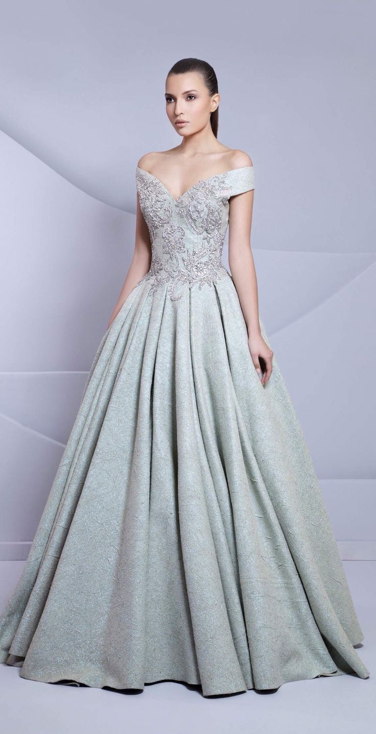 ice blue princess wedding dress, Tarek Sinno | Wedding Dresses ...