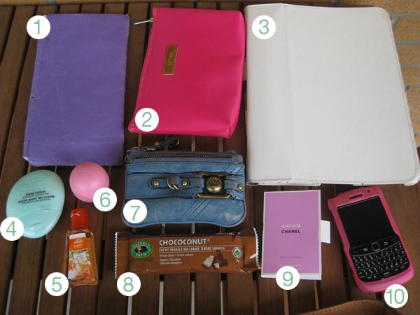 cute blog... and what an organized purse, i need to organize my own