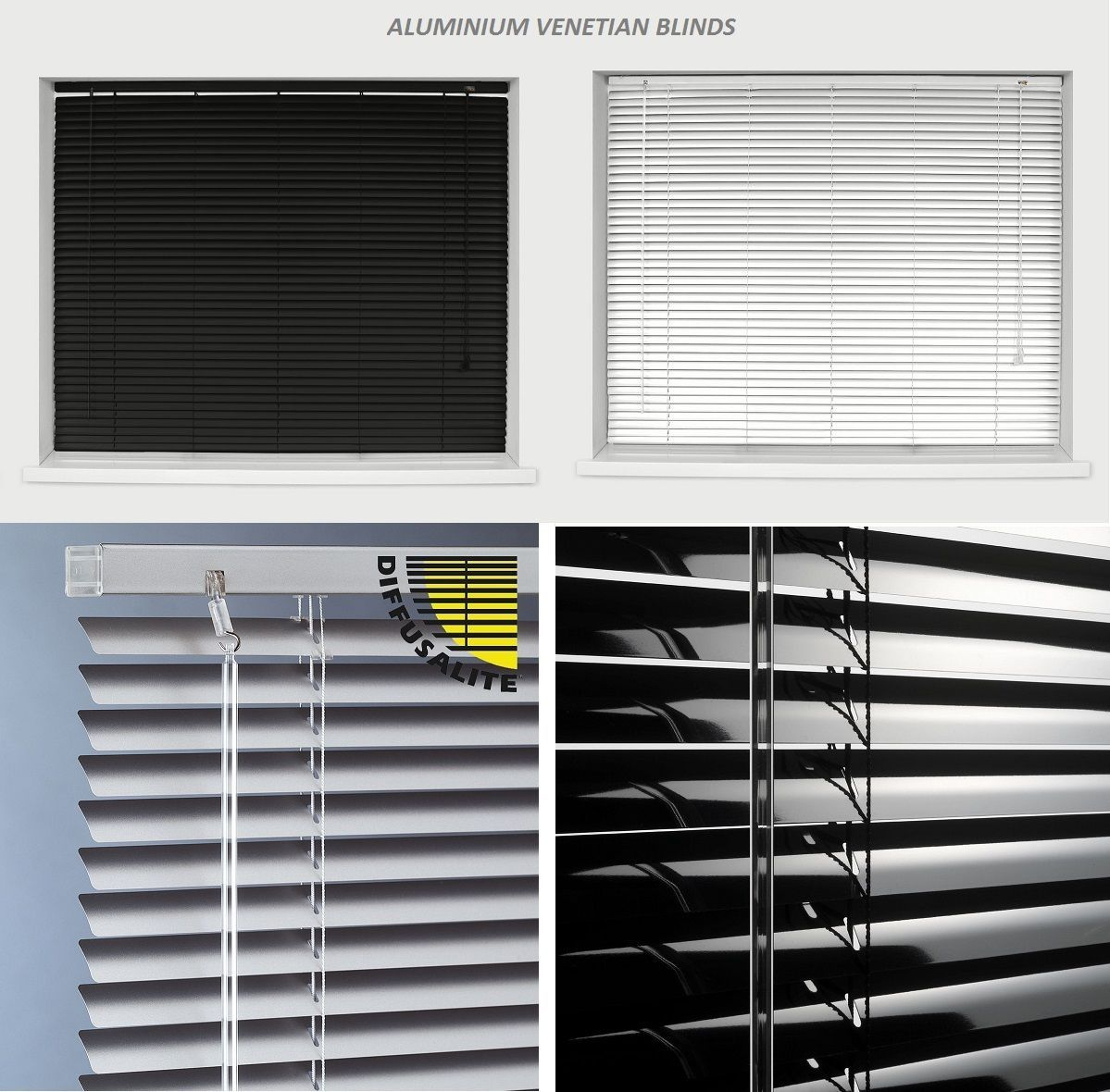 Aluminum slats for 25mm venetian shutters buy aluminium - Aluminium Metal Venetian Blinds Trimable Easy Fit 25mm Slat Home Office All Size
