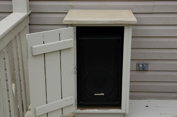 outdoor deck speaker enclosures | outdoor diy | pinterest