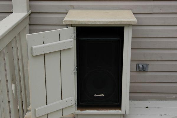 Outdoor Deck Speaker Enclosures