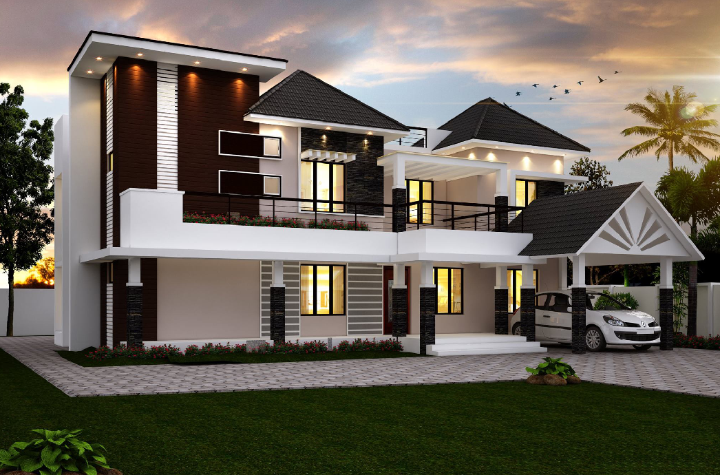 Spectacular Villa Exteriors To Mesmerize You Amazing Architecture Magazine Kerala House Design Single Floor House Design House Architecture Design