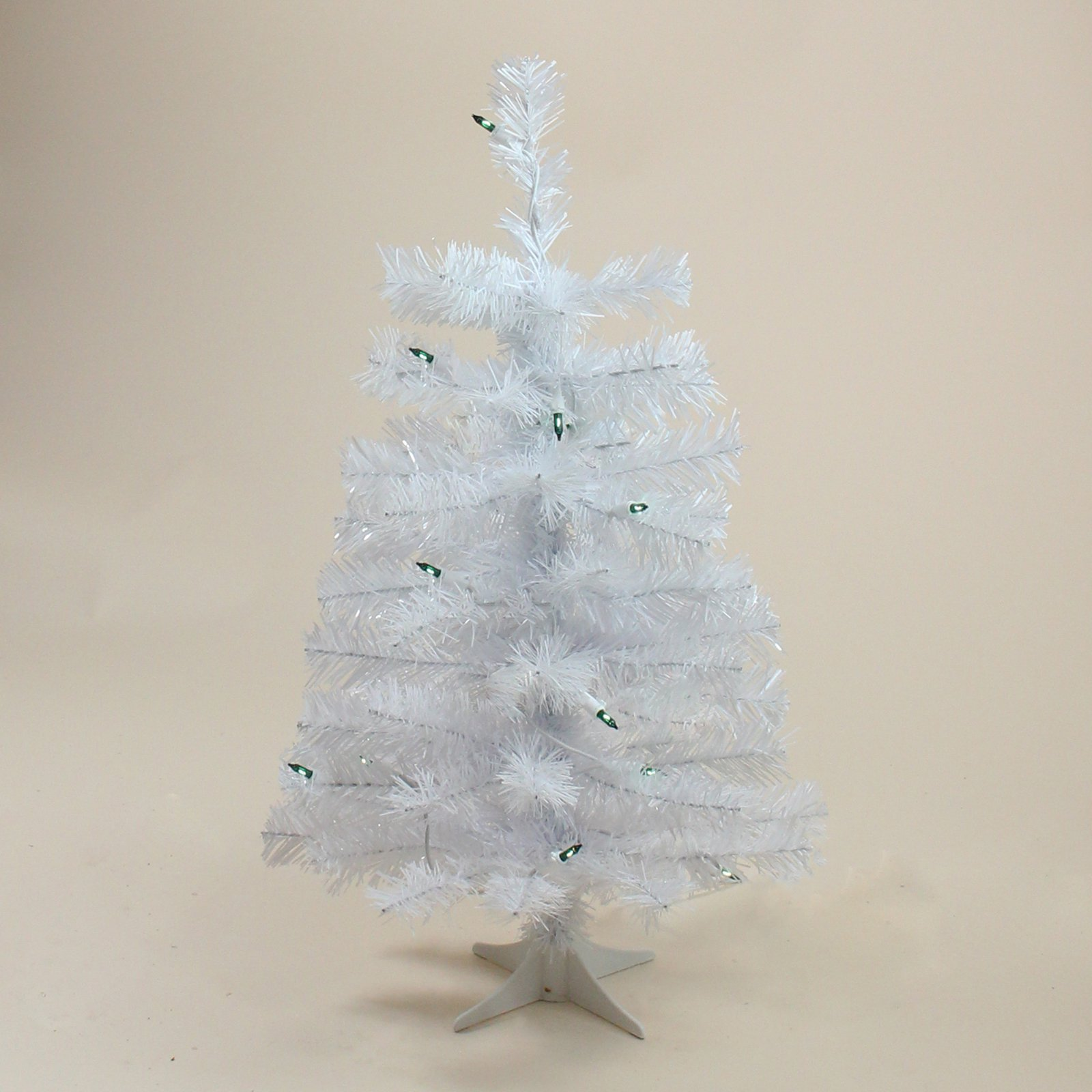 3 Ft Northlight White Tinsel Artificial Pre Lit Slim Christmas Tree White Tinsel Tabletop Christmas Tree White Artificial Christmas Tree