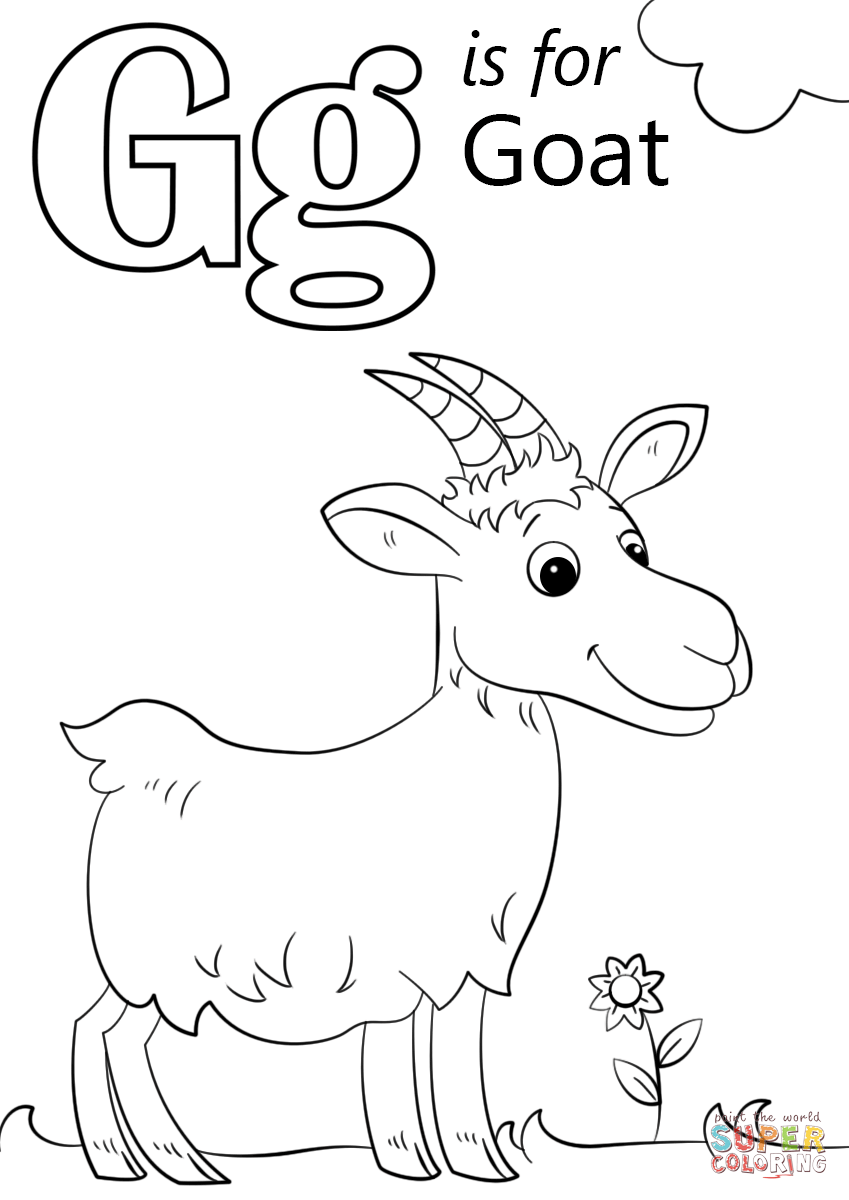 Letter G Is For Goat Coloring Page Free Printable Coloring Pages Abc Coloring Alphabet Coloring Pages Abc Coloring Pages