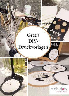 Silvester Deko Basteln silvester partydeko und accessoires printables freebies