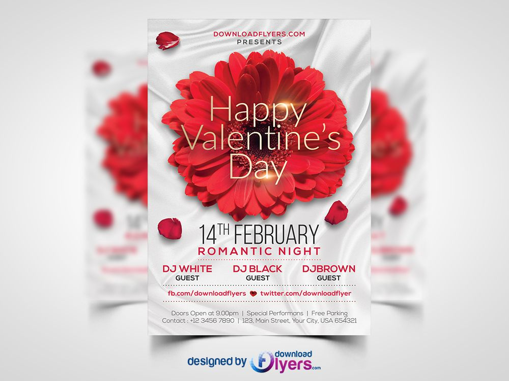 Free Valentines Day Flyer Template Free Psd Freebies Free Psd Flyer Templates Free Flyer Templates Free Psd Flyer
