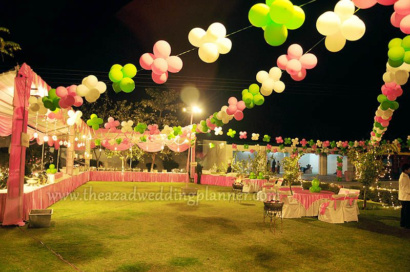 Birthday party arrangements balloon decoration in for Balloon decoration for parties