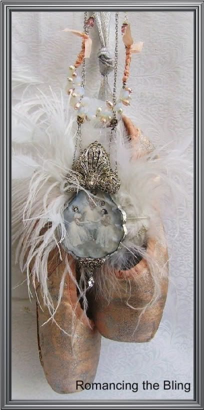 Ballerina pendant- looks like something I would make from my old point shoes