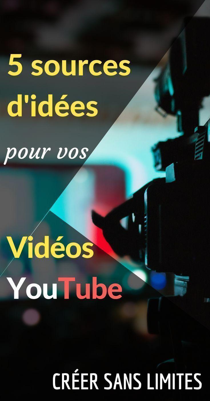 5 sources d'inspirations pour vos idées de vidéos Youtube | Idée de vidéo youtube, Idée de vidéo ...