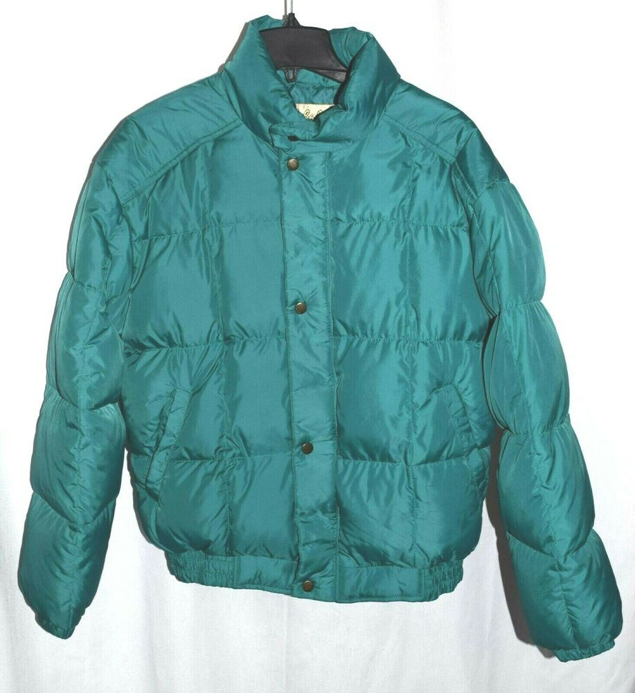 8abb168c804 Cabelas VTG Women Large Premier Northern Goose Down Puffer Jacket Green  Quilted #Cabelas #Puffer