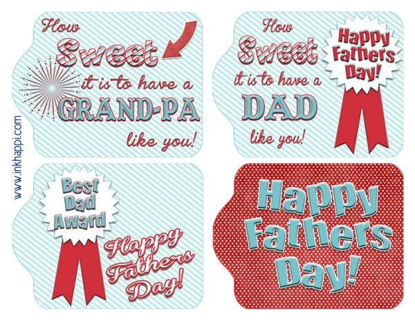 photograph relating to Free Printable Fathers Day Tags titled Fathers Working day Present Tags for a \
