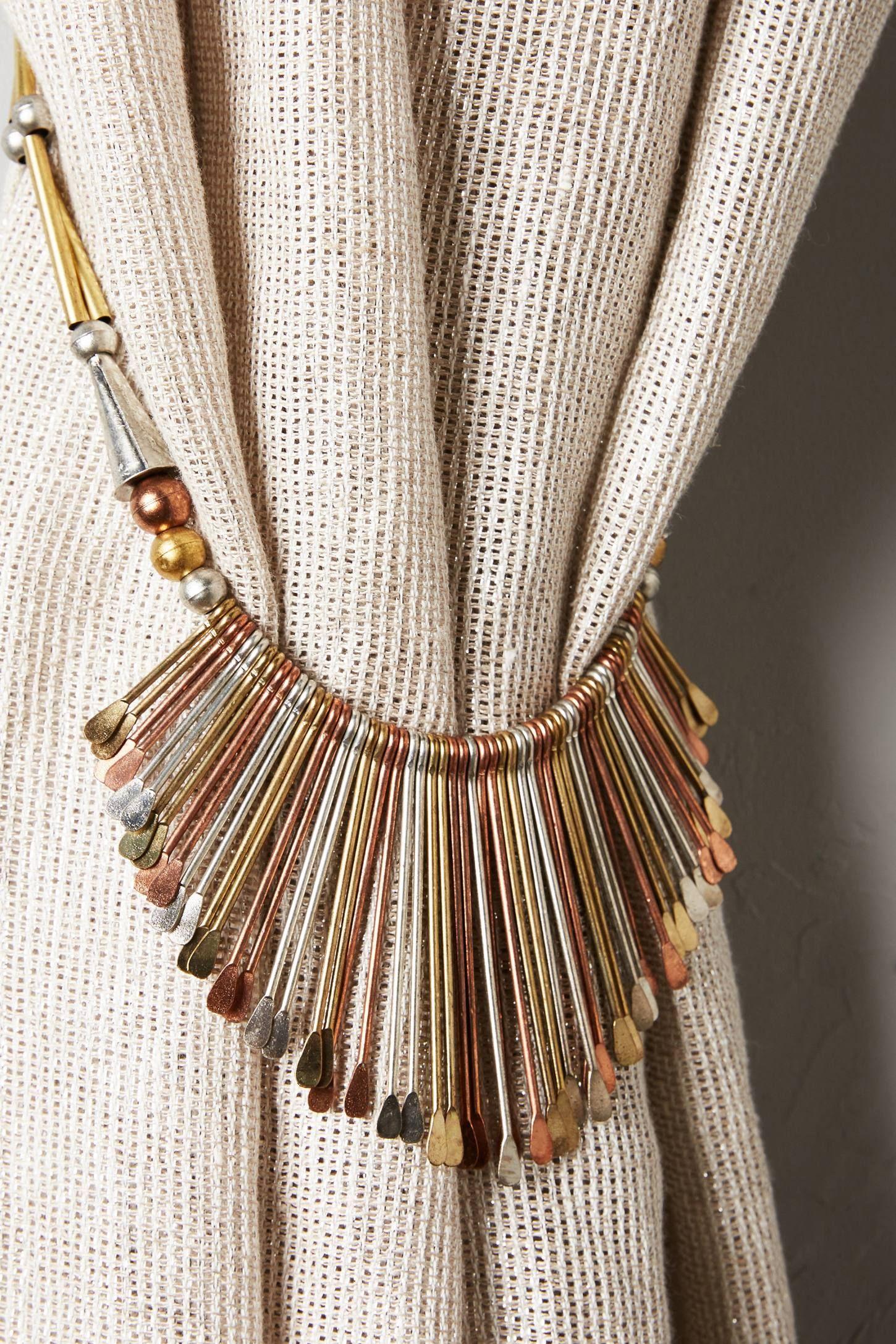 Diadem Finials Tieback Fabric Decor Home Curtains
