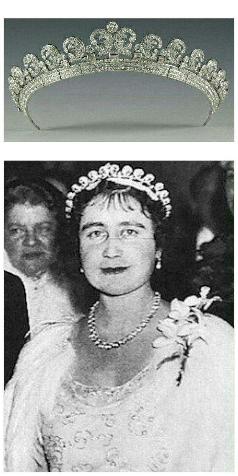 Elizabeth Bowes Lyon Reina Del Reino Unido Royal Crown Jewels Queens Jewels Royal Jewels