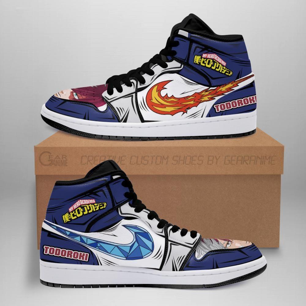 Shoto Todoroki Jordan Sneakers Skill My Hero Acade