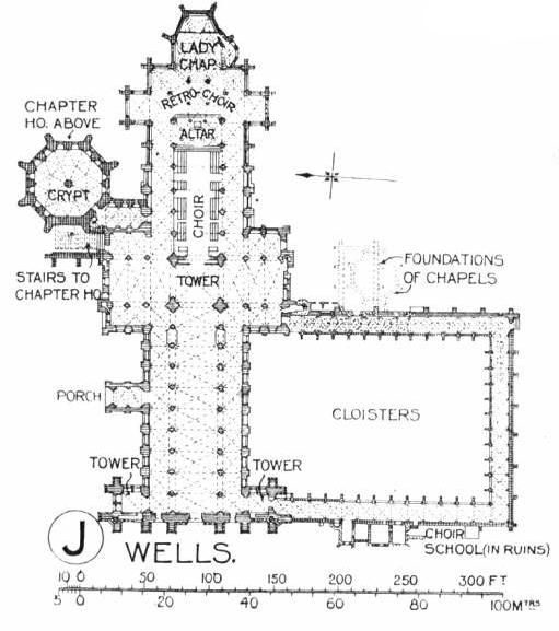 Wells Cathedral Floor Plan Wells Cathedral Floorplan Jpg 511 577 Pixels Floor Plans Cathedral Architecture Gothic Architecture Drawing