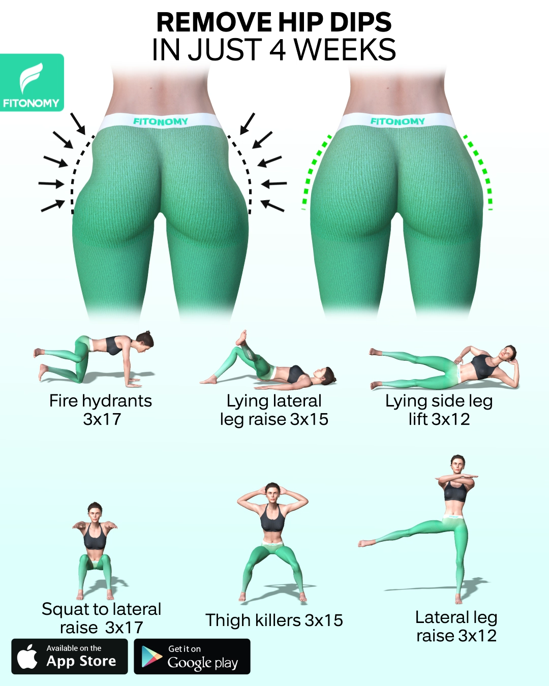 REMOVE HIP DIPS IN JUST 4 WEEKS