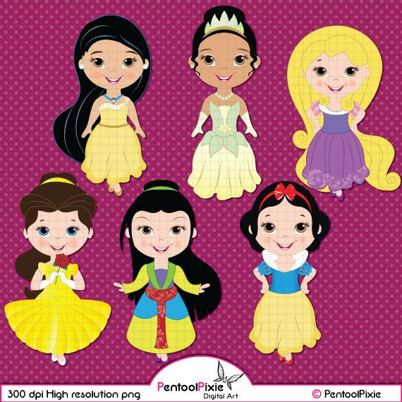 Little Princess Clipart Princess Clipart by PentoolPixie on Etsy