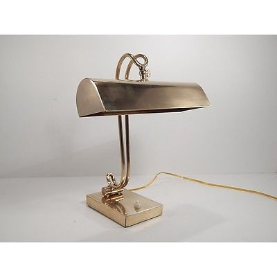 Antica Originale Lampada Da Tavolo Art Deco Ministeriale In Ottone Lampade Da Tavolo Lampade Tavolo