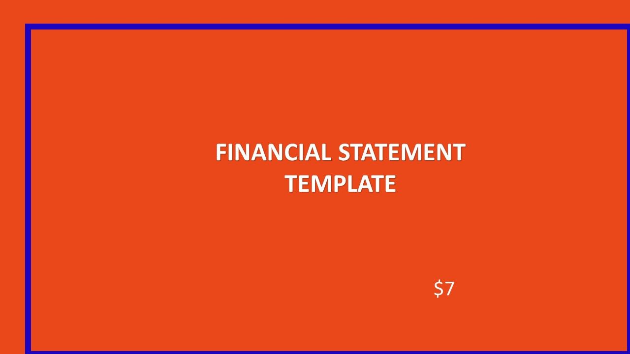 Financial Statements Template  The Business Of Being In Business