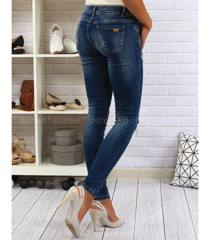 1ed9432ed90c Dámske džínsové modré nohavice