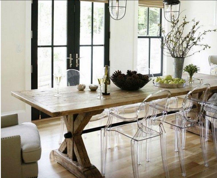 15 id es de table de ferme pour une salle manger sp ciale deco tables s manger. Black Bedroom Furniture Sets. Home Design Ideas