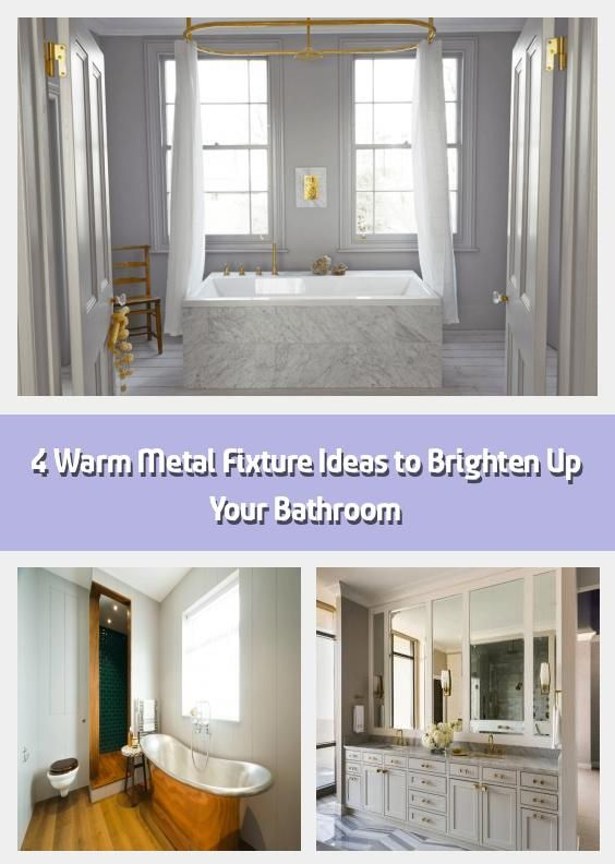 Photo of 4 ideas for warm metal fixings to brighten up your bathroom – we all know that …