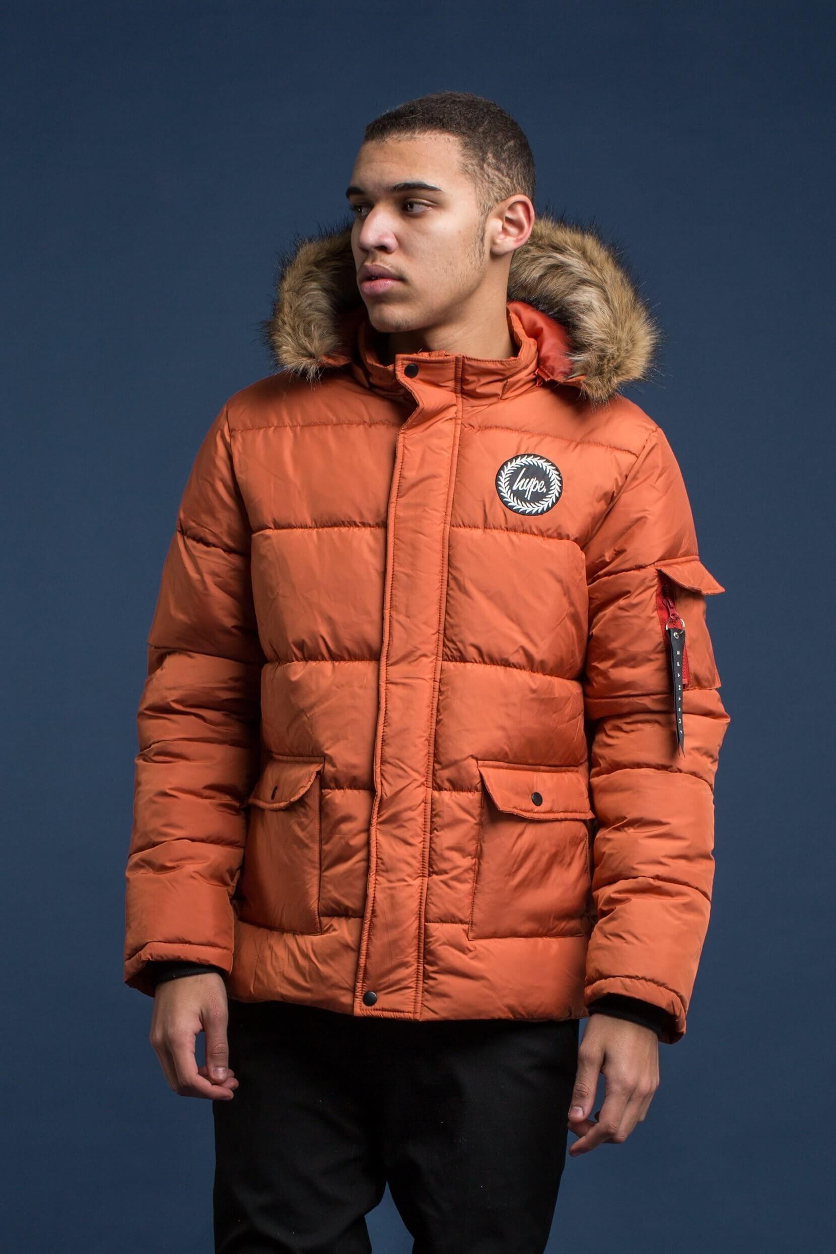 lowest discount best cheap lace up in Hype Orange Explorer Men's Puffa Jacket in 2019   Mens ...