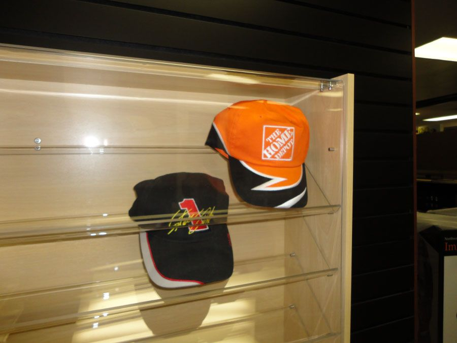 Displaying Baseball Caps On Wall For Collector Die Cast Miniatures Baseball Hats Dolls And Mor Hat Display Baseball Hat Display Organize Baseball Hats