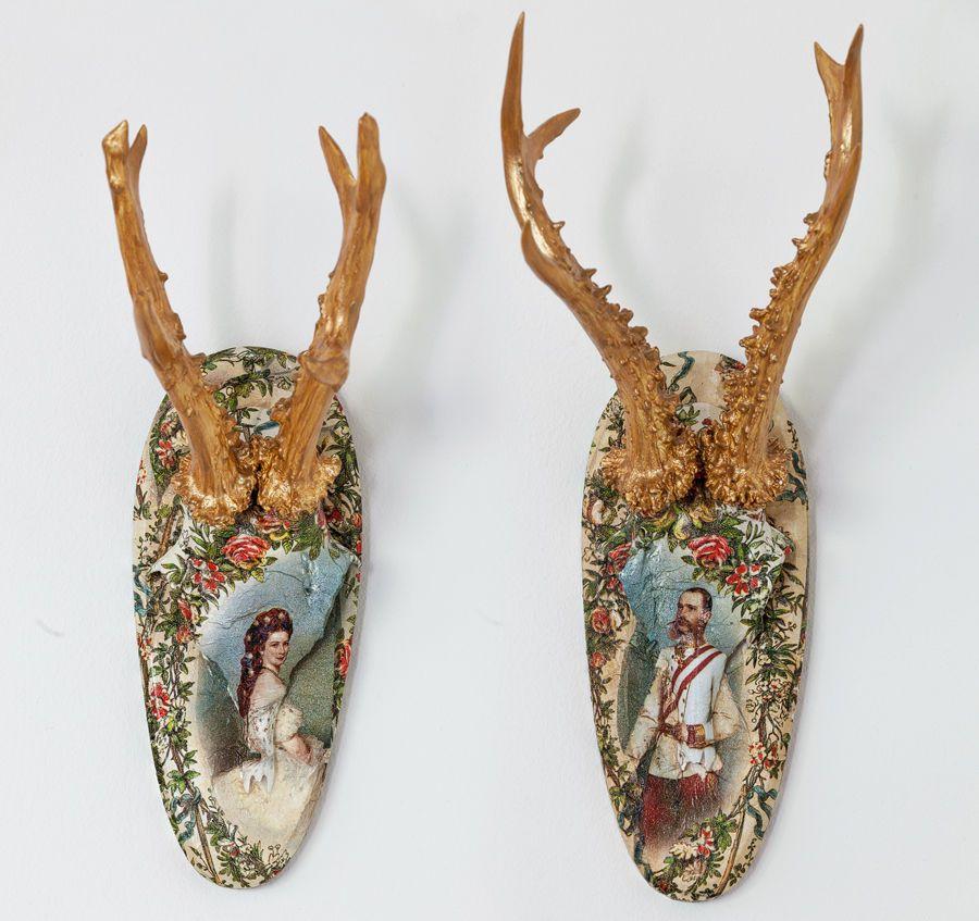 Fabulous  Bemalte Design Geweihe Unikate Antler uSissi Sisi Franz