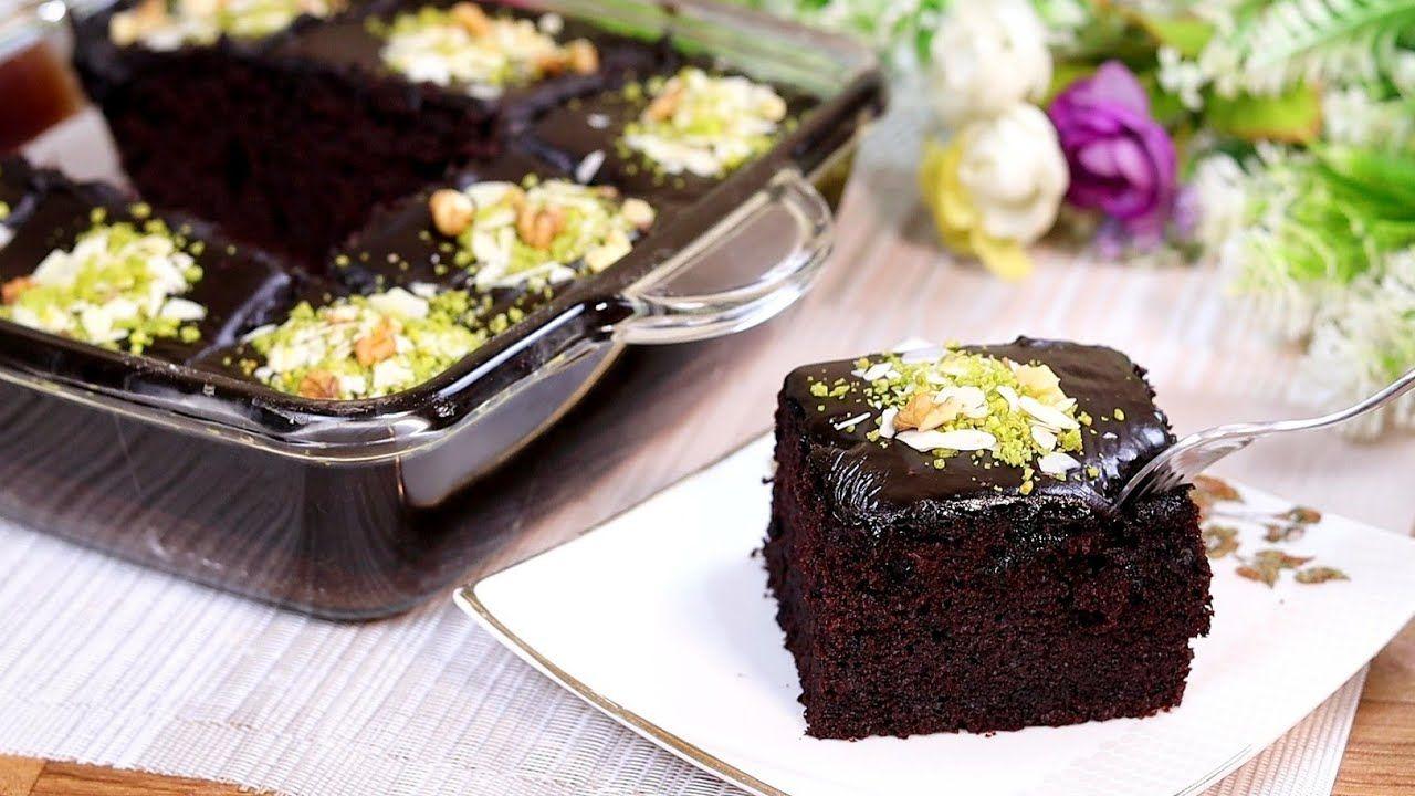 كيكة شوكولاتة بدون بيض بدون خلاط نباتية سهلة وسريعة بكراميل الشوكولاتة الجديد Youtube Desserts Food Breakfast