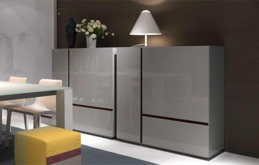 Madie Moderne Madia Moderna Grigia Arredamento Credenza Design Arredamento Soggiorno