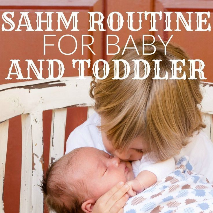 SAHM Routine For Baby And Toddler images