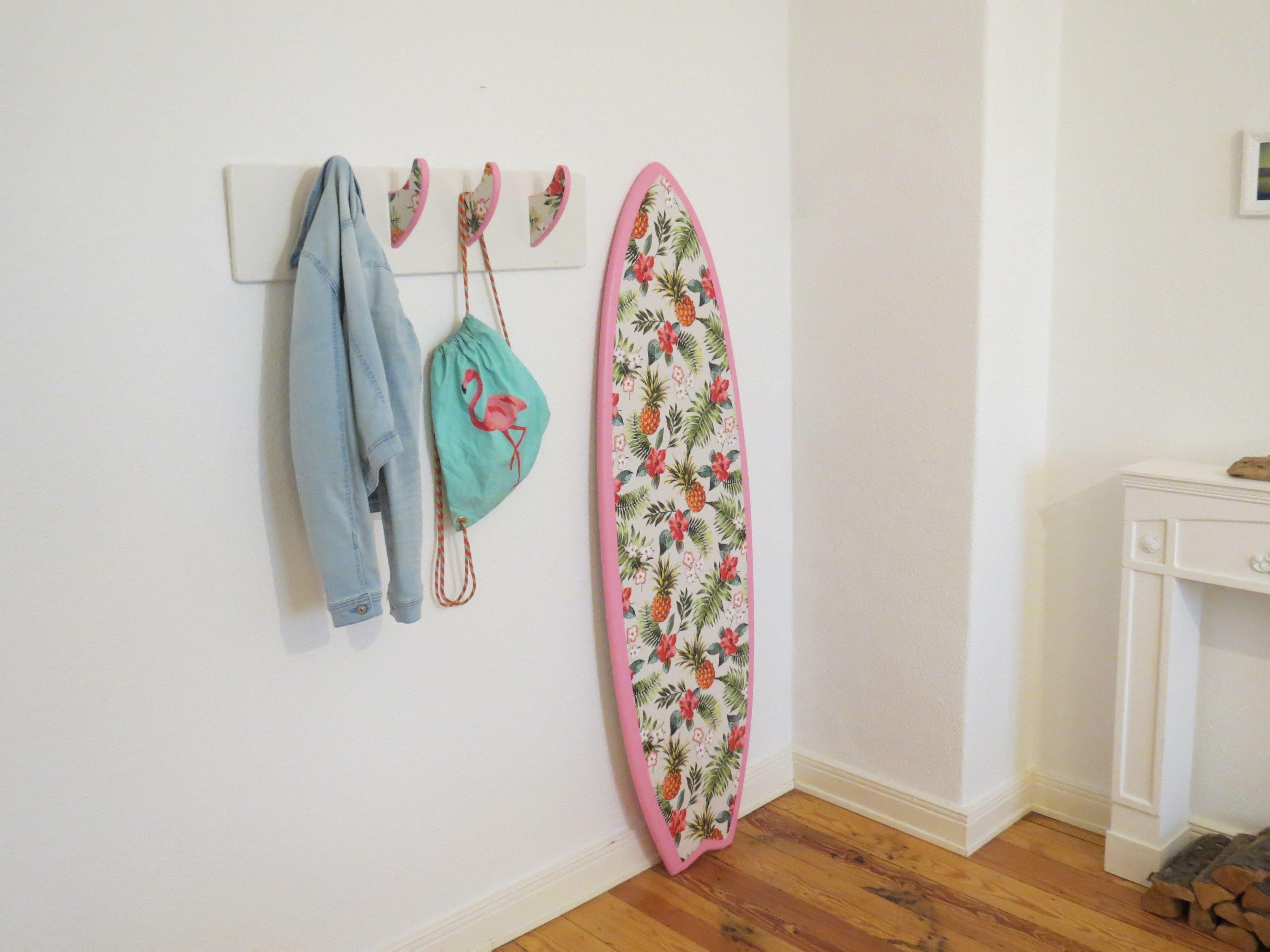 Deko surfbrett surf finnen garderobe in der tropical for Garderobe deko