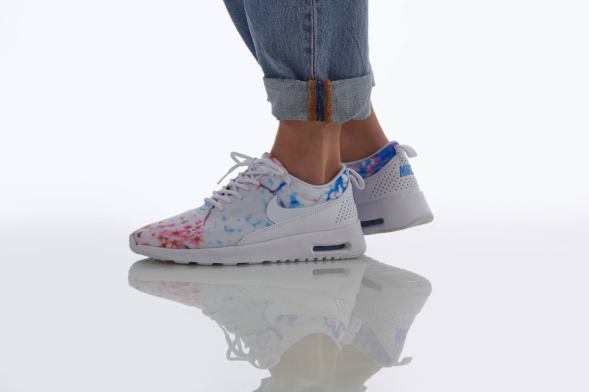 Nike Wmns Air Max Thea Print White White University (Cherry Blossom) | Footshop