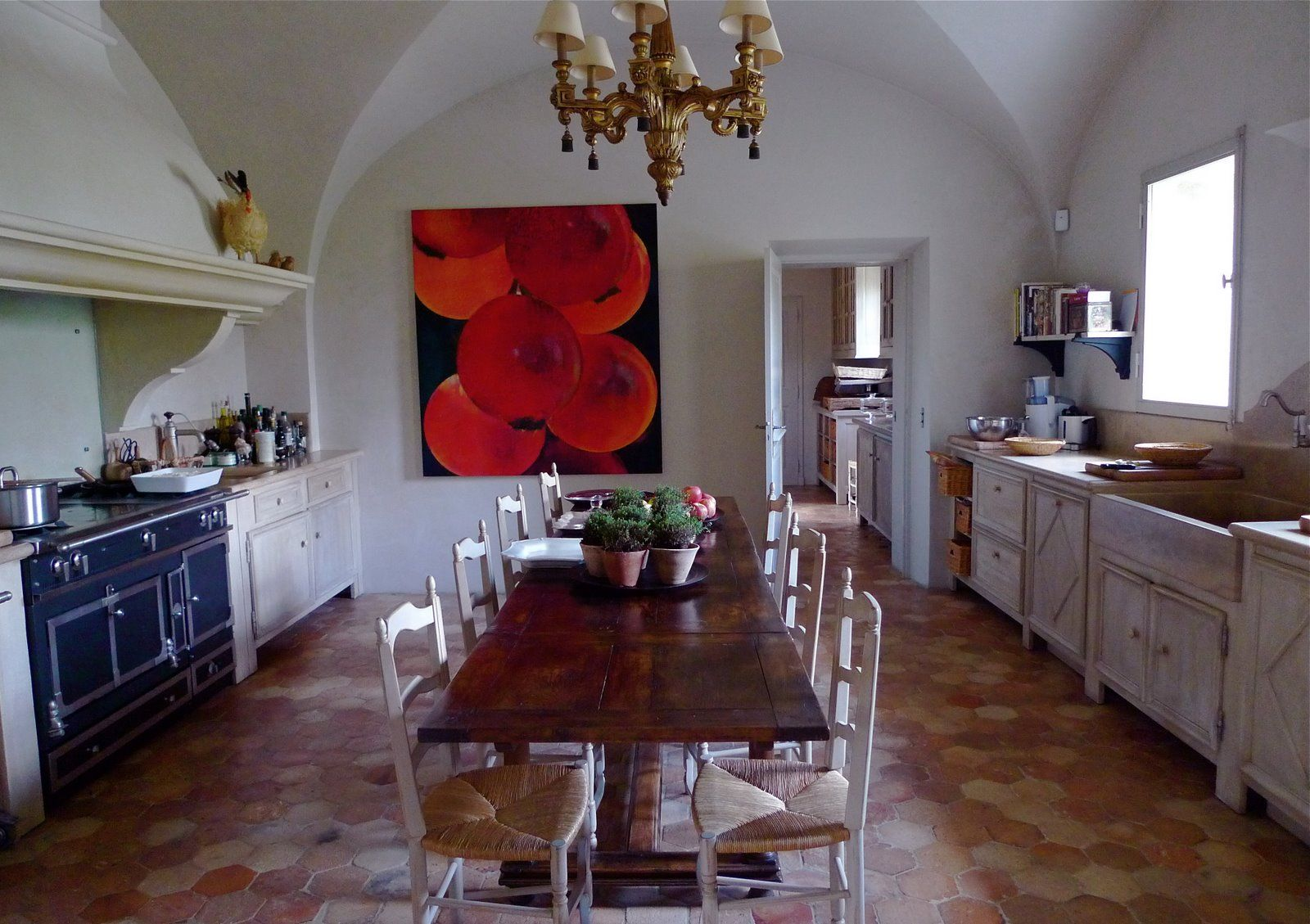 French kitchen table  Another view of my dream French kitchen  Kitchens  Pinterest