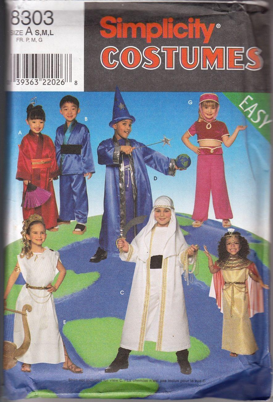 5ac88f3b3 Easy Children's Variety Costumes Pattern, Genie, S-M-L Simplicity 8303