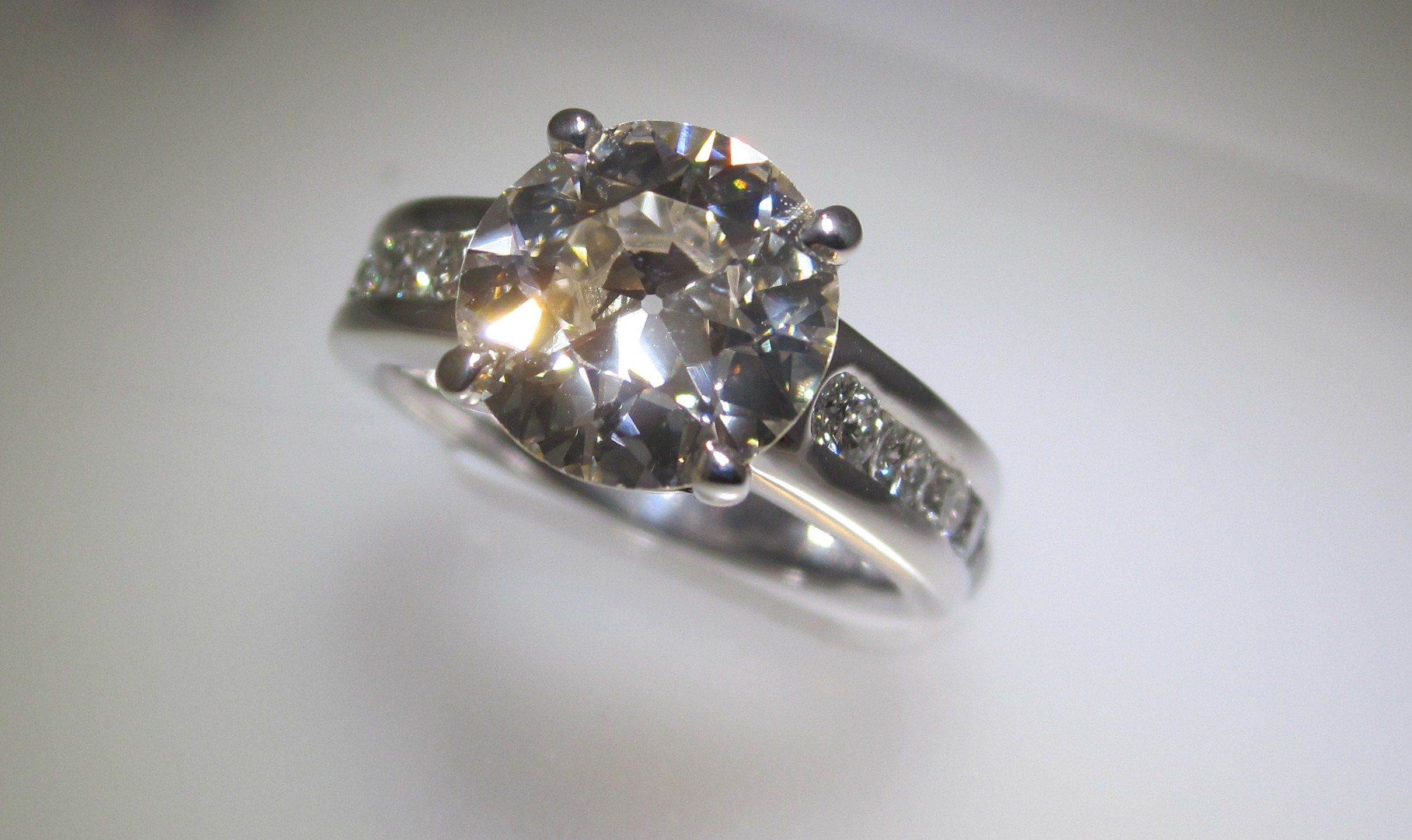 Menashe & Sons Jewelers Custom Round brilliant cut diamond ring