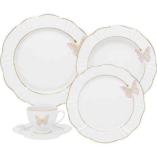 Aparelho De Jantar 30 Pecas Porcelana Soleil Encantada Oxford