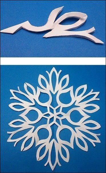 Как сделать гирлянду из снежинок своими руками