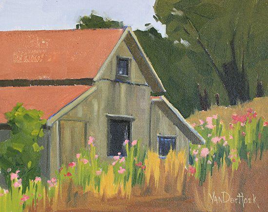 Wildflowers Out Back by Kim VanDerHoek Oil ~ 8 x 10
