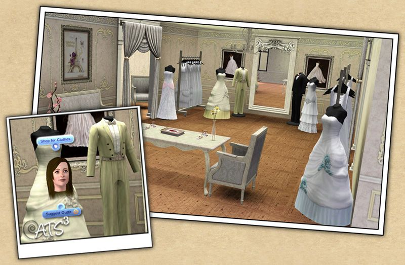 Around the Sims 3 | Downloads | Objects | Wedding Boutique