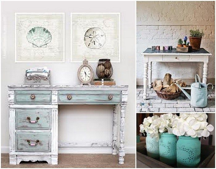 Reciclar con pintura tiza azul decoraci n pinterest - Muebles a la tiza ...